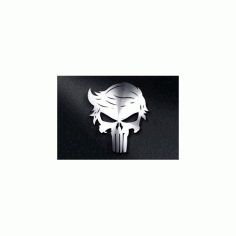 Trump Punisher Skull Free DXF File