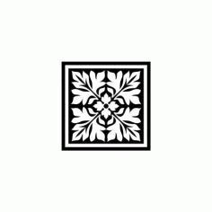 Vintage Square Ornament Free DXF File