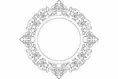 Ayna Mirror Frame Round Free DXF File