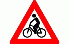 Bicycle Traffic Sign Free DXF File