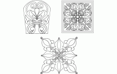 Flower Designs Free DXF File