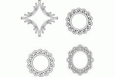Multiple Mirror Frame Designs Free DXF File