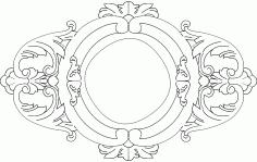 Round Frame Free DXF File