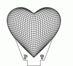 3d Heart Shaped Led Light Download For Printers Or Laser Engraving Machines Free CDR Vectors Art