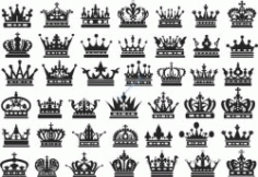 Carved Crowns Decorated Free DXF File