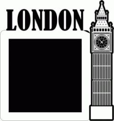 Clock Shaped Picture Frame In London England Free DXF File