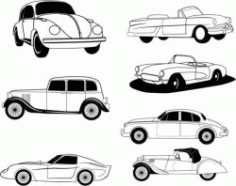 Drawings Of Famous Car Models In History Free DXF File