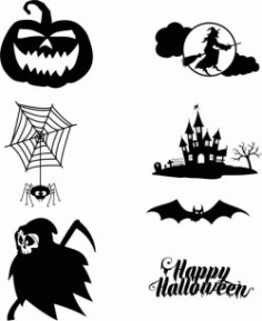 Halloween Holiday Themed Designs Free DXF File