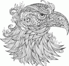 Ornamental Eagle For Print Or Laser Engraving Machines Free DXF File