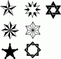 Star Stroke Texture Free DXF File