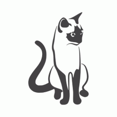 Cat Sitting 2 Free DXF File