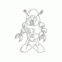Cool Robot Free DXF File