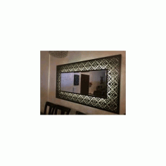 Decorative Framed Mirror Large Free DXF File