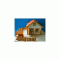 House Plywood 6.5mm Free DXF File