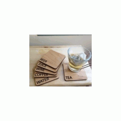 Laser Cut Coasters Free DXF File