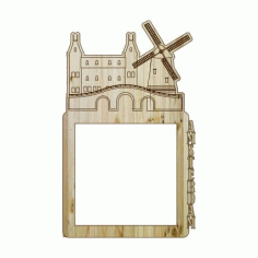 Laser Cut Photo Frame Amsterdam Free DXF File