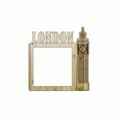 Laser Cut Photo Frame London Free DXF File