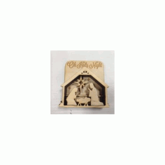 Nativity Shadow Box Free DXF File
