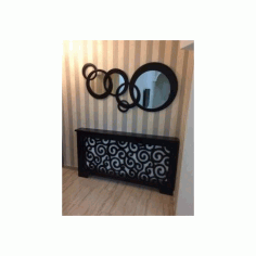 Round Wall Decor Mirror Frame Free DXF File