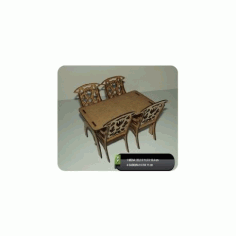 Table And Chairs Free DXF File