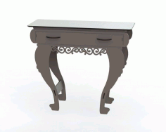 Laser Cut Wooden Table With Drawers File Free CDR Vectors Art
