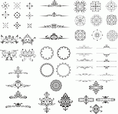 Ornament Design Kit File Free CDR Vectors Art