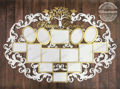 Photo Frame Laser Cut File Free CDR Vectors Art