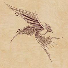 Stencil Laser Cutting Bird File Free CDR Vectors Art