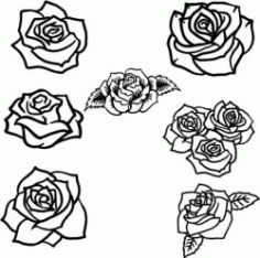 Collection Of Beautiful Rose Flower Patterns Free CDR Vectors Art