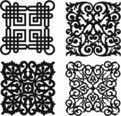 Damask Seamless Floral Pattern Download For Laser Cut Plasma Free CDR Vectors Art