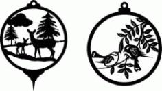 Decorations For Deer And Birds Free CDR Vectors Art