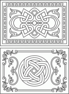 Decorative Frame With Overlapping Motifs Download For Laser Cut Cnc Free CDR Vectors Art
