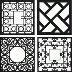 Design Template Square Decoration Download For Laser Cut Cnc Free CDR Vectors Art