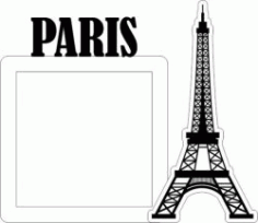 Eiffel Tower Picture Frame In Paris Free CDR Vectors Art