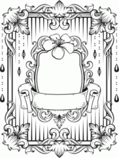 Floral Frame For Laser Engraving Machines Free CDR Vectors Art
