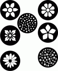 Flower Coasters Download For Laser Cut Plasma Free CDR Vectors Art