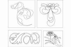 Floral Design Art Free DXF File