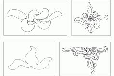 Flower Design 12 Free DXF File
