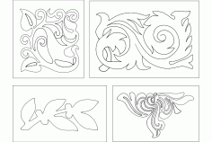 Flower Design 223 Free DXF File