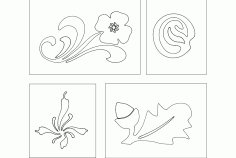 Flower Designs 13 Free DXF File