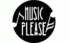Music Please Free DXF File