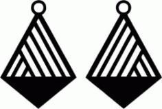 Geometric Cross Shaped Earring Design Free CDR Vectors Art