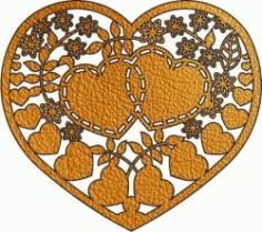 Heart Interlocking Download For Laser Free CDR Vectors Art