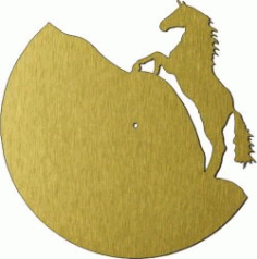 Horse Shaped Wall Clock Download For Laser Cut Plasma Free CDR Vectors Art