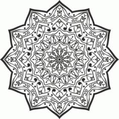 Luxury Mandala Designdownload For Print Or Laser Engraving Machines Free DXF File