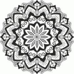 Mandala Cut Design Free DXF File