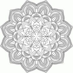 Mandala Design 12 Free DXF File
