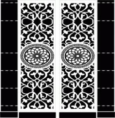 Mandala Motifs Doordownload For Cnc Cut Free DXF File