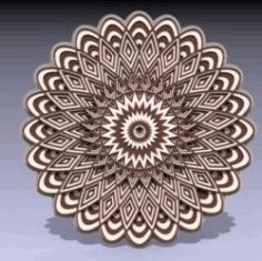 Multilayer Mandala Download For Laser Cut Free DXF File