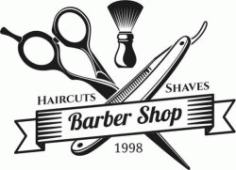 Barber Shop Hair Cut Shaves Free DXF File